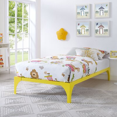 Ollie Twin Bed Frame Finish: Yellow