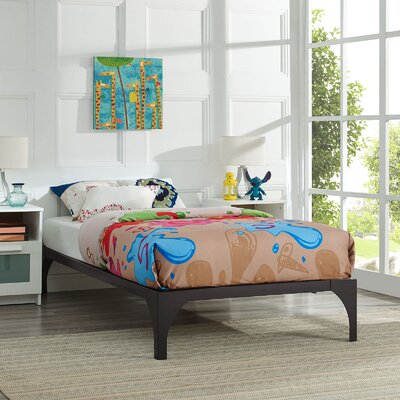 Ollie Twin Bed Frame Color: Brown