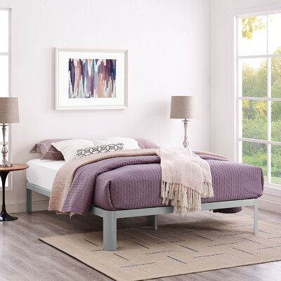 Corinne Bed Frame Size: Queen, Color: Gray