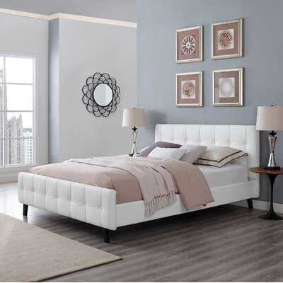 Ophelia Queen Upholstered Platform Bed Upholstery: White