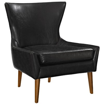 keen Vinyl Side chair Upholstery: Black