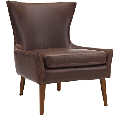 keen Side chair Upholstery: Brown