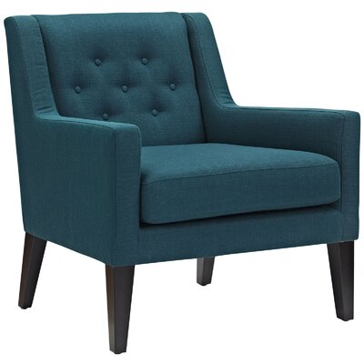 Earnest Fabric Armchair Upholstery: Azure