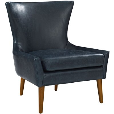 keen Vinyl Side chair Upholstery: Blue