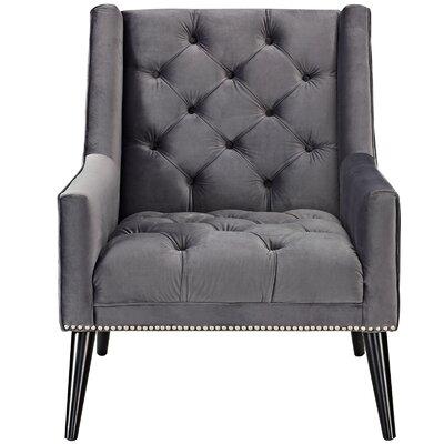 Peruse Velvet Armchair Upholstery: Gray