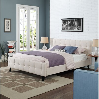 Ophelia Queen Upholstered Platform Bed Color: Beige
