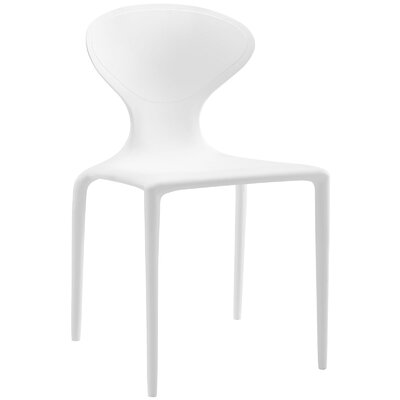 Draw Side Chair Finish: White