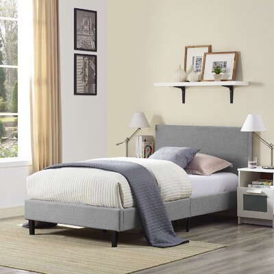 Tafolla Bed Frame Color: Light Gray, Size: Twin