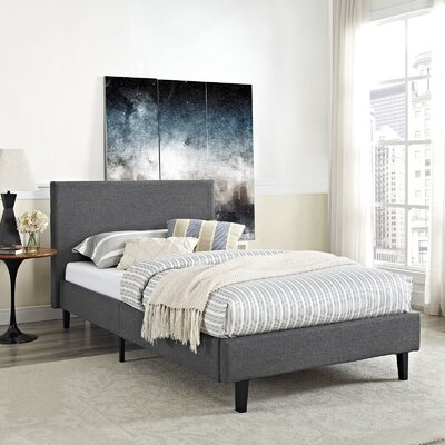 Tafolla Bed Frame Color: Gray, Size: Queen