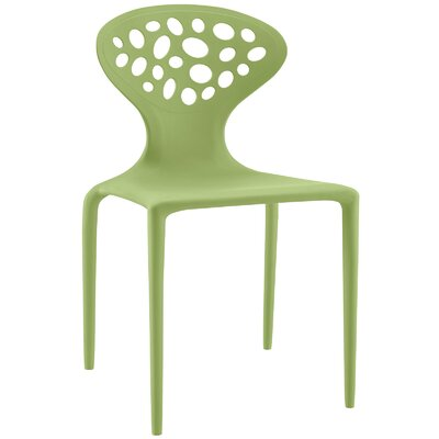 Animate Side Chair Color: Green