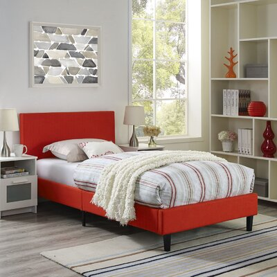 Tafolla Bed Frame Color: Red, Size: Twin