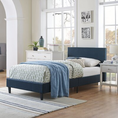 Tafolla Bed Frame Color: Azure, Size: Queen