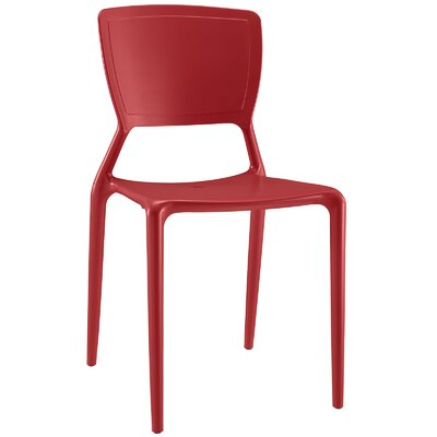Fine Side Chair Color: Red