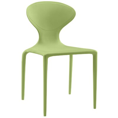 Draw Side Chair Color: Green