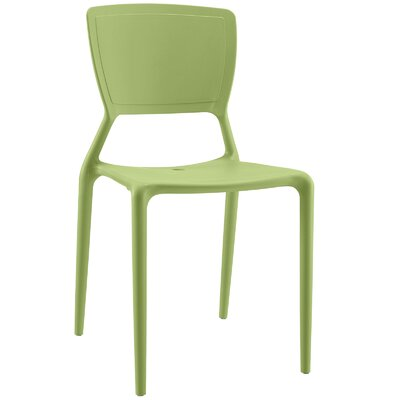 Fine Side Chair Finish: Green