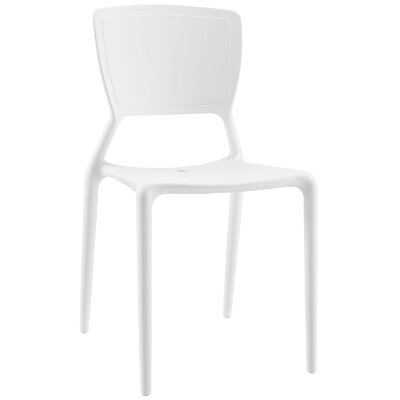 Fine Side Chair Color: White