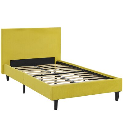 Tafolla Bed Frame Color: Sunny, Size: Twin