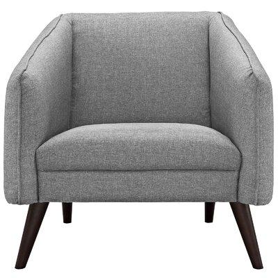 Slide Arm Chair Upholstery: Light Gray