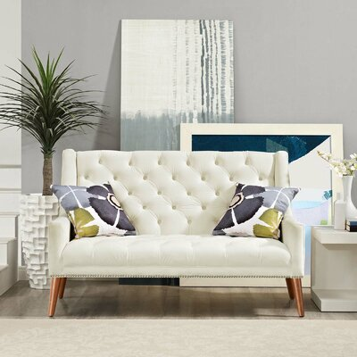 Mcwilliams Loveseat Upholstery: Ivory