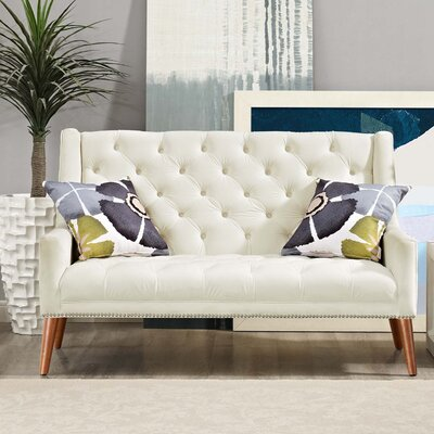Peruse Loveseat Upholstery: Ivory