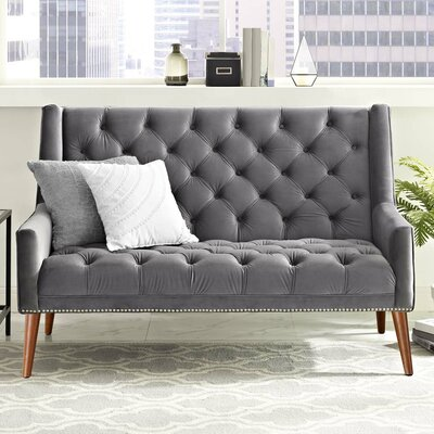 Mcwilliams Loveseat Upholstery: Gray