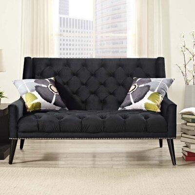 Peruse Loveseat Upholstery: Black
