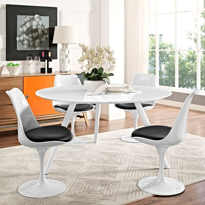 Julien Marble Dining Table Top Finish: White, Size: 29.5 H x 54 L x 54 W