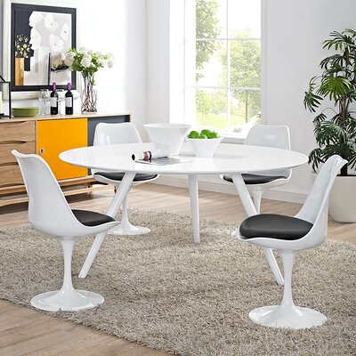 Julien Marble Dining Table Top Finish: White, Size: 29 H x 60 L x 60 W