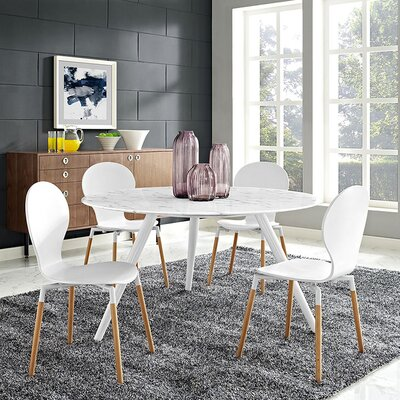 Julien Marble Dining Table Top Finish: Marble, Size: 29.5 H x 54 L x 54 W