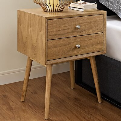 Dispatch 2 Drawer Nightstand Finish: Natural