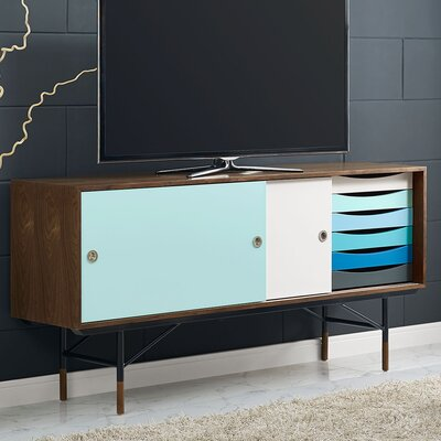 Envoy 77 TV Stand Color: Walnut/White
