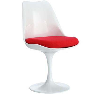 Bellamy Side Chair Upholstery: Red