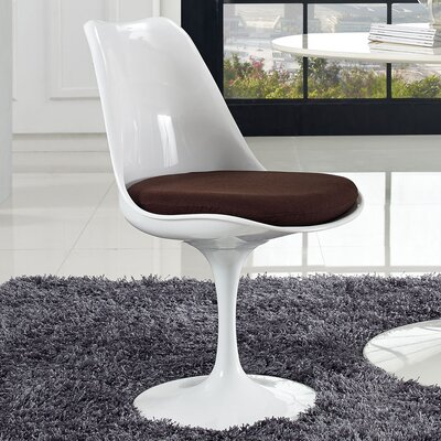 Julien Side Chair Upholstery: Brown