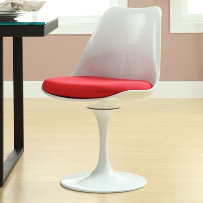 Julien Side Chair Upholstery: Red