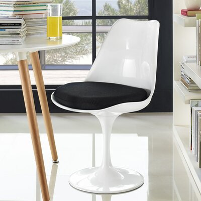 Julien Side Chair Upholstery: Black