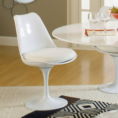 Julien Side Chair Upholstery: White