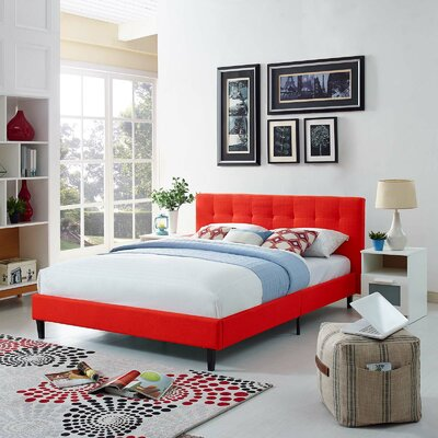 Linnea Upholstered Platform Bed Size: Full, Upholstery: Wheatgrass