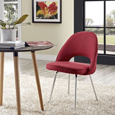 Bradway Dining Side Chair Upholstery: Red