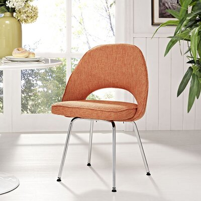 Cordelia Dining Side Chair Upholstery: Orange