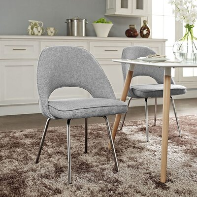 Cordelia Dining Side Chair Upholstery: Light Gray