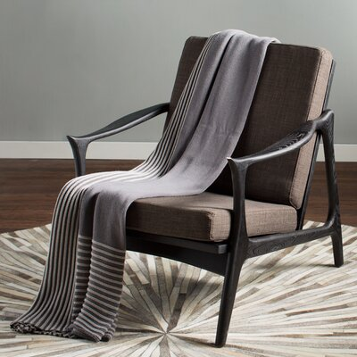 Pace Armchair Upholstery: Black / Gray