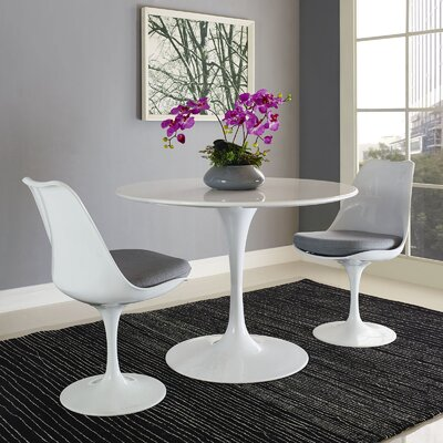 Julien Dining Table Size: 28.5 H x 40 W x 40 D
