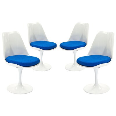 Julien Dining Side Chair Upholstery: Blue