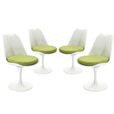Julien Dining Side Chair Upholstery: Green