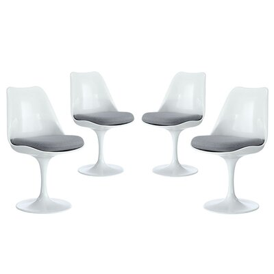 Julien Dining Side Chair Upholstery: Gray
