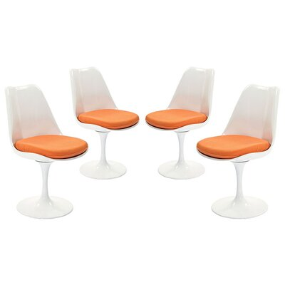 Julien Dining Side Chair Upholstery: Orange