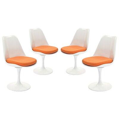 Bellamy Dining Side Chair  Upholstery: Orange