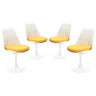 Bellamy Dining Side Chair  Upholstery: Yellow