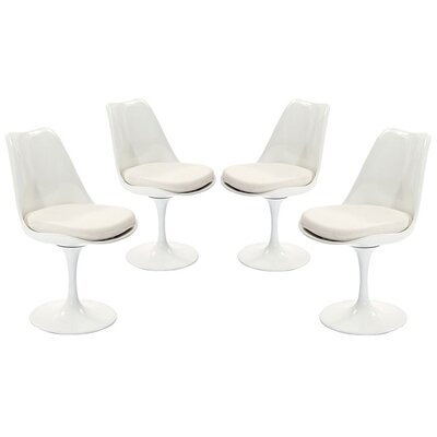 Julien Dining Side Chair Upholstery: White