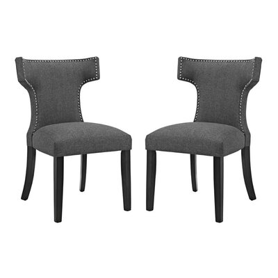 Curve Upholstered Dining Chair Upholstery: Gray
